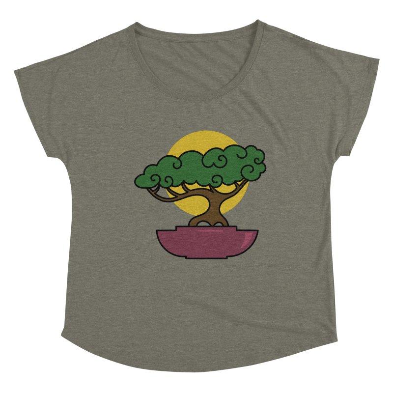 Bonsai Tree #2 Women's Scoop Neck by LadyBaigStudio's Artist Shop