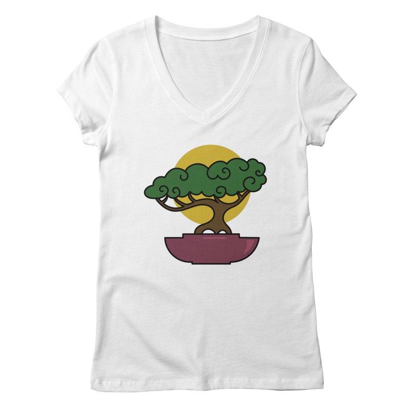 Bonsai Tree #2 Women's Regular V-Neck by LadyBaigStudio's Artist Shop