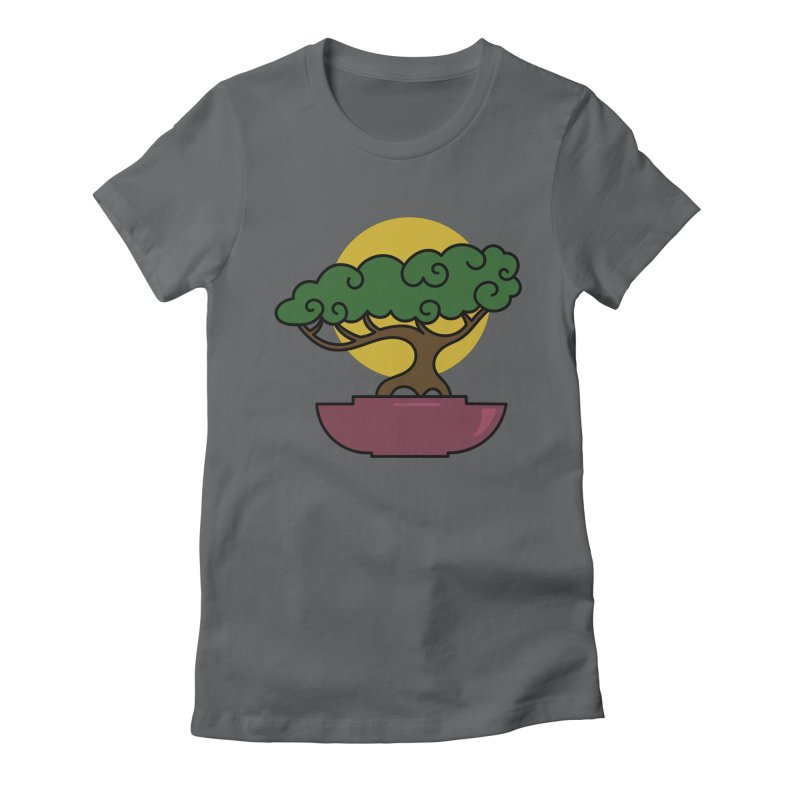 Bonsai Tree #2 Women's Fitted T-Shirt by LadyBaigStudio's Artist Shop