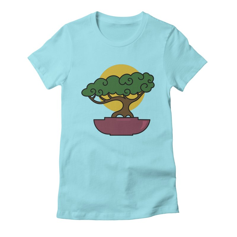 Bonsai Tree #2 Women's Fitted T-Shirt by LadyBaigStudio's Artist Shop
