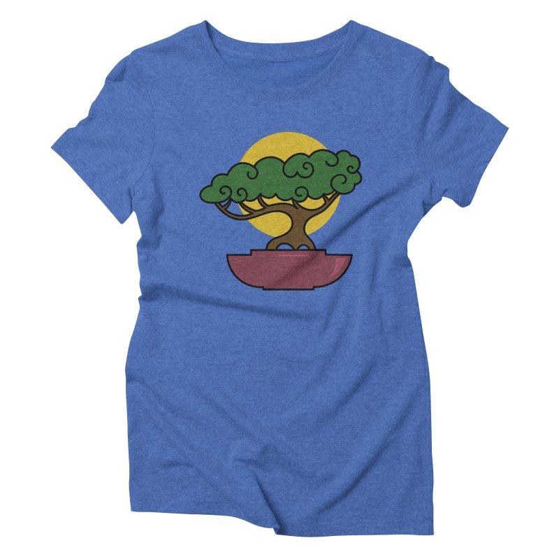 Bonsai Tree #2 Women's Triblend T-Shirt by LadyBaigStudio's Artist Shop
