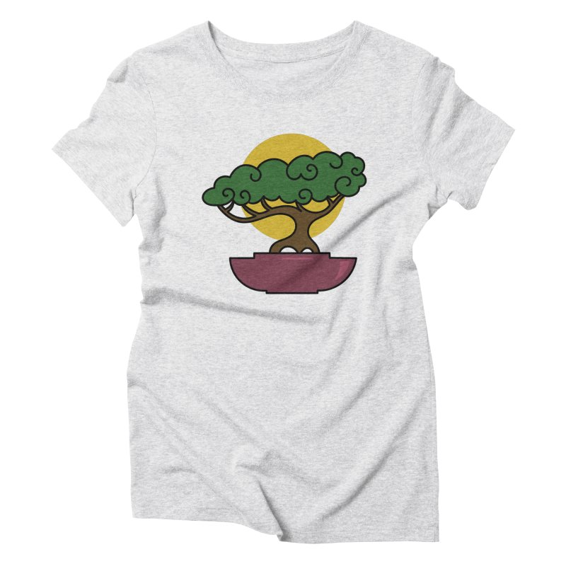 Bonsai Tree #2 Women's Triblend T-Shirt by LadyBaigStudio's Artist Shop