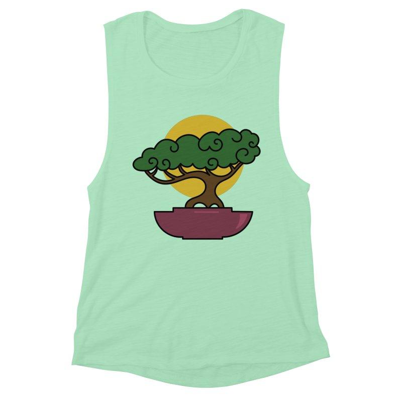 Bonsai Tree #2 Women's Muscle Tank by LadyBaigStudio's Artist Shop
