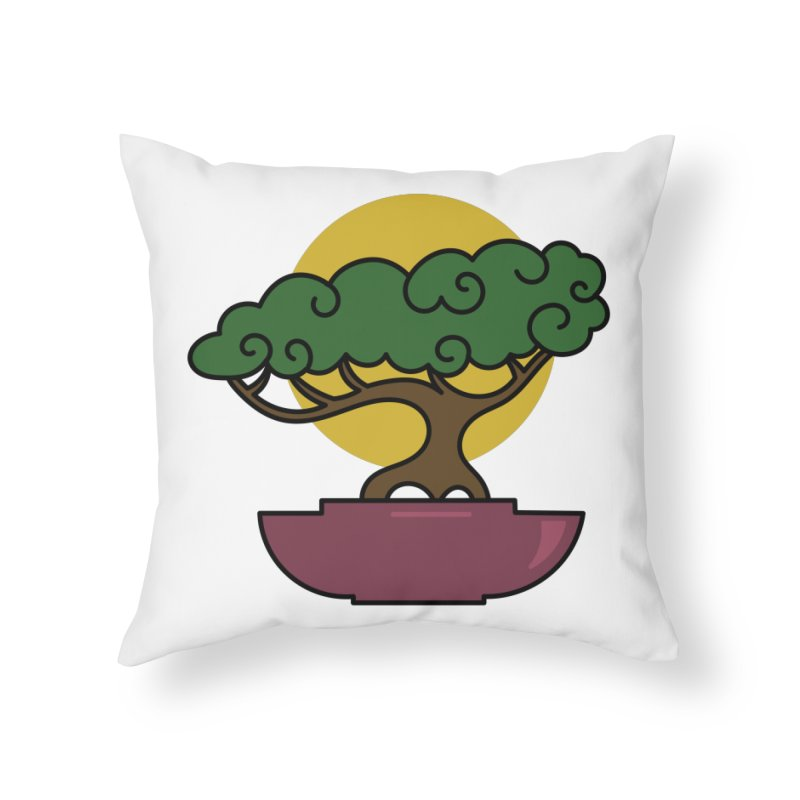 Bonsai Tree #2 Home Throw Pillow by LadyBaigStudio's Artist Shop