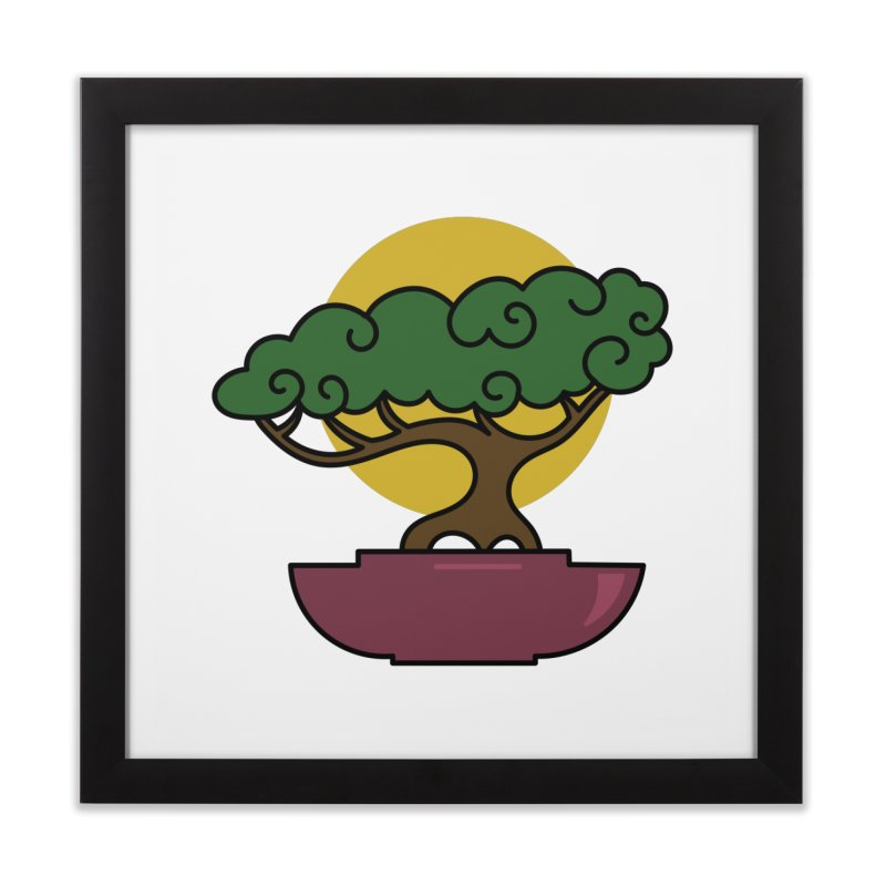 Bonsai Tree #2 Home Framed Fine Art Print by LadyBaigStudio's Artist Shop