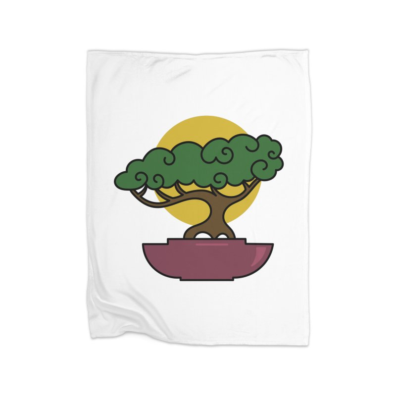 Bonsai Tree #2 Home Fleece Blanket Blanket by LadyBaigStudio's Artist Shop