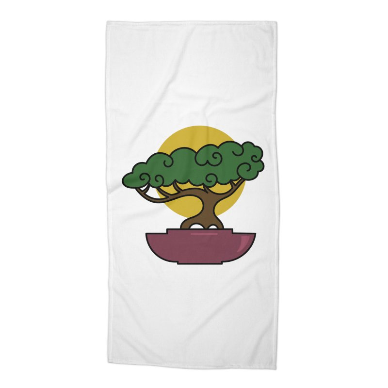 Bonsai Tree #2 Accessories Beach Towel by LadyBaigStudio's Artist Shop