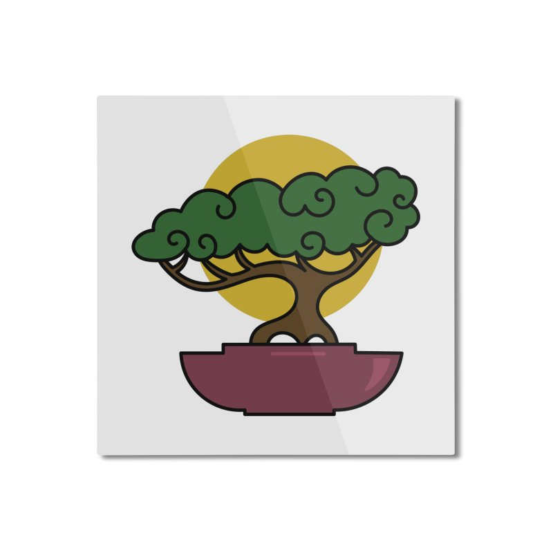 Bonsai Tree #2 Home Mounted Aluminum Print by LadyBaigStudio's Artist Shop