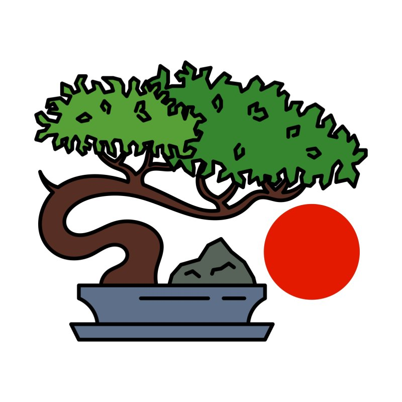 Bonsai Tree - #3 Accessories Sticker by LadyBaigStudio's Artist Shop