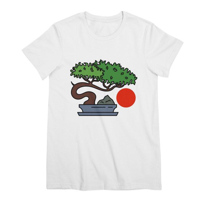 Bonsai Tree - #3 Women's Premium T-Shirt by LadyBaigStudio's Artist Shop