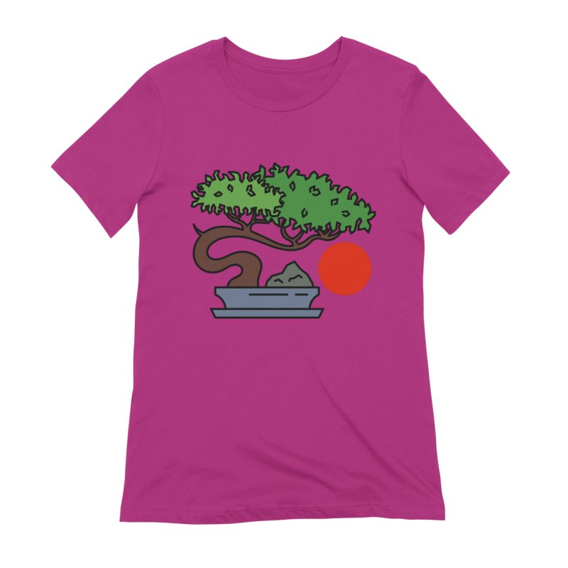 Bonsai Tree - #3 Women's Extra Soft T-Shirt by LadyBaigStudio's Artist Shop
