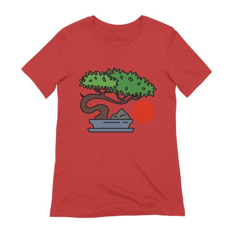Bonsai Tree - #3 Women's Extra Soft T-Shirt by LadyBaigStudio's Artist Shop