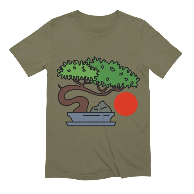 Bonsai Tree - #3 Men's Extra Soft T-Shirt by LadyBaigStudio's Artist Shop