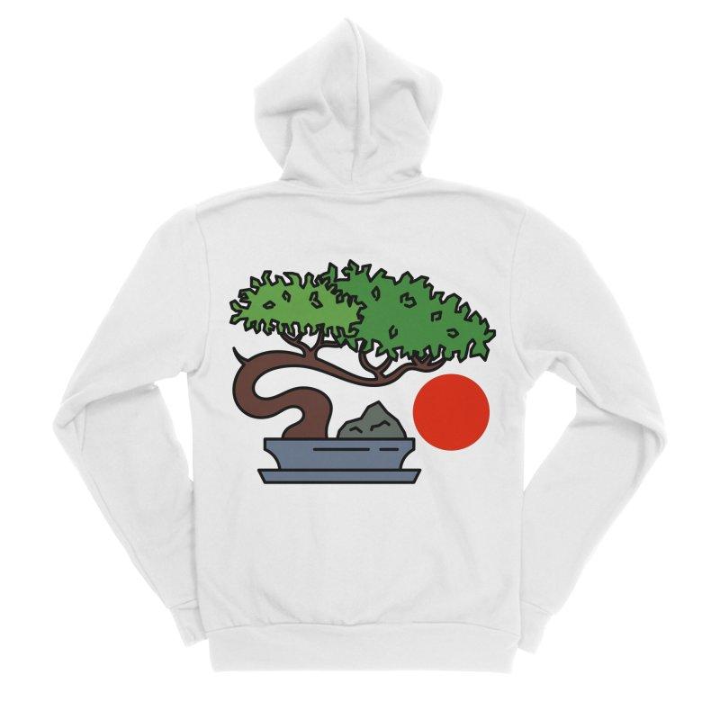 Bonsai Tree - #3 Men's Sponge Fleece Zip-Up Hoody by LadyBaigStudio's Artist Shop
