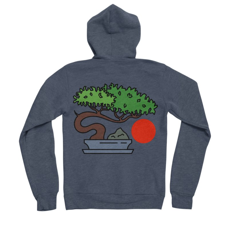 Bonsai Tree - #3 Women's Sponge Fleece Zip-Up Hoody by LadyBaigStudio's Artist Shop