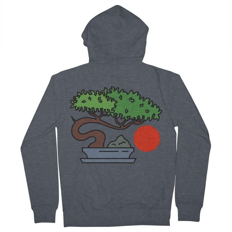 Bonsai Tree - #3 Men's French Terry Zip-Up Hoody by LadyBaigStudio's Artist Shop
