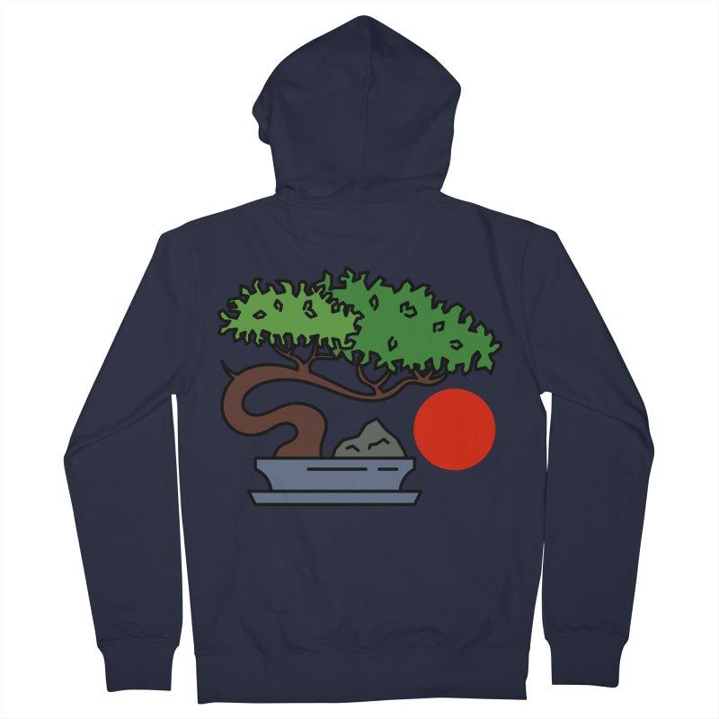 Bonsai Tree - #3 Men's French Terry Zip-Up Hoody by LadyBaigStudio's Artist Shop