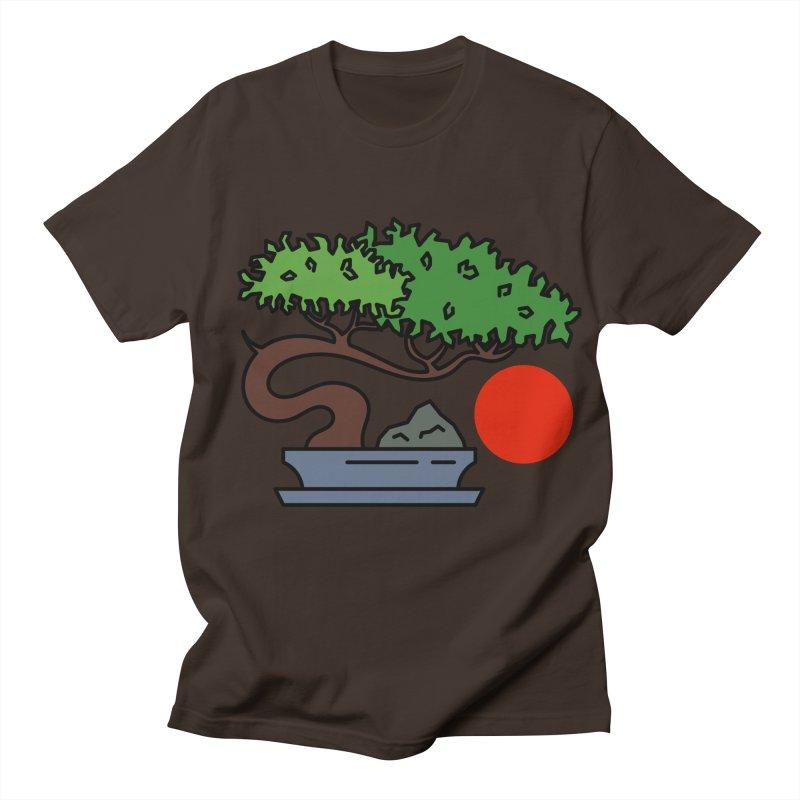 Bonsai Tree - #3 Men's T-Shirt by LadyBaigStudio's Artist Shop
