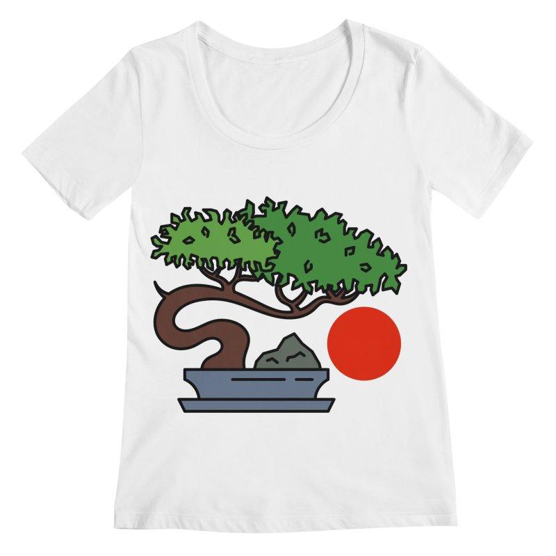 Bonsai Tree - #3 Women's Regular Scoop Neck by LadyBaigStudio's Artist Shop