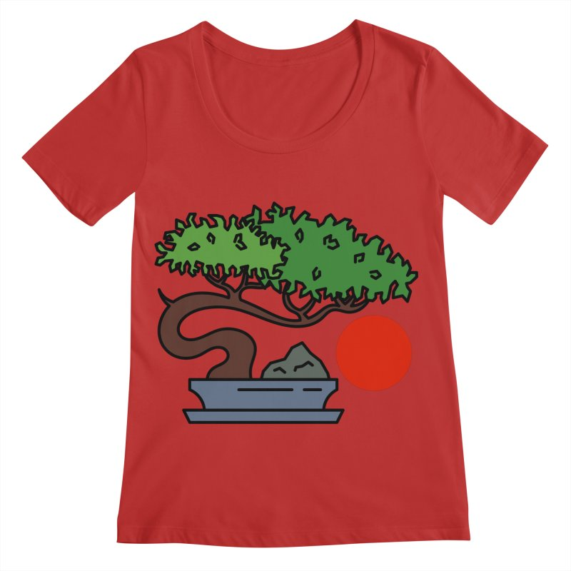 Bonsai Tree - #3 Women's Regular Scoop Neck by LadyBaigStudio's Artist Shop