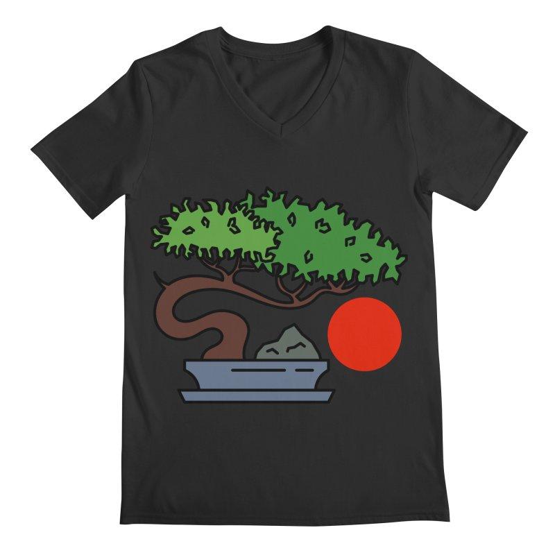 Bonsai Tree - #3 Men's V-Neck by LadyBaigStudio's Artist Shop