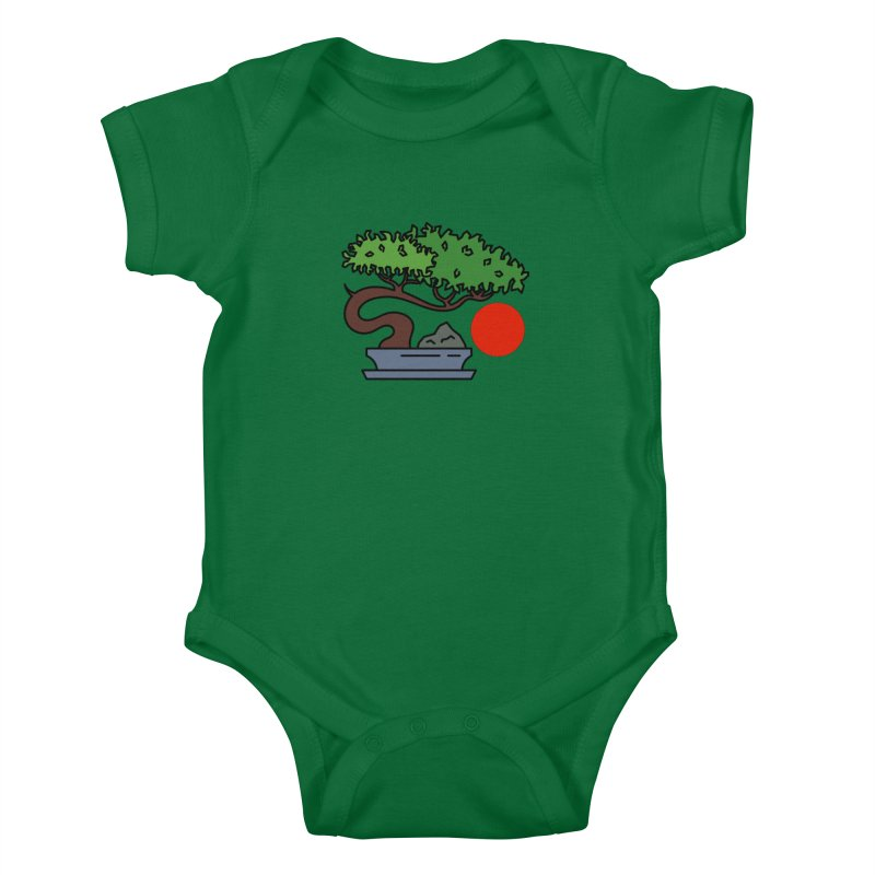 Bonsai Tree - #3 Kids Baby Bodysuit by LadyBaigStudio's Artist Shop