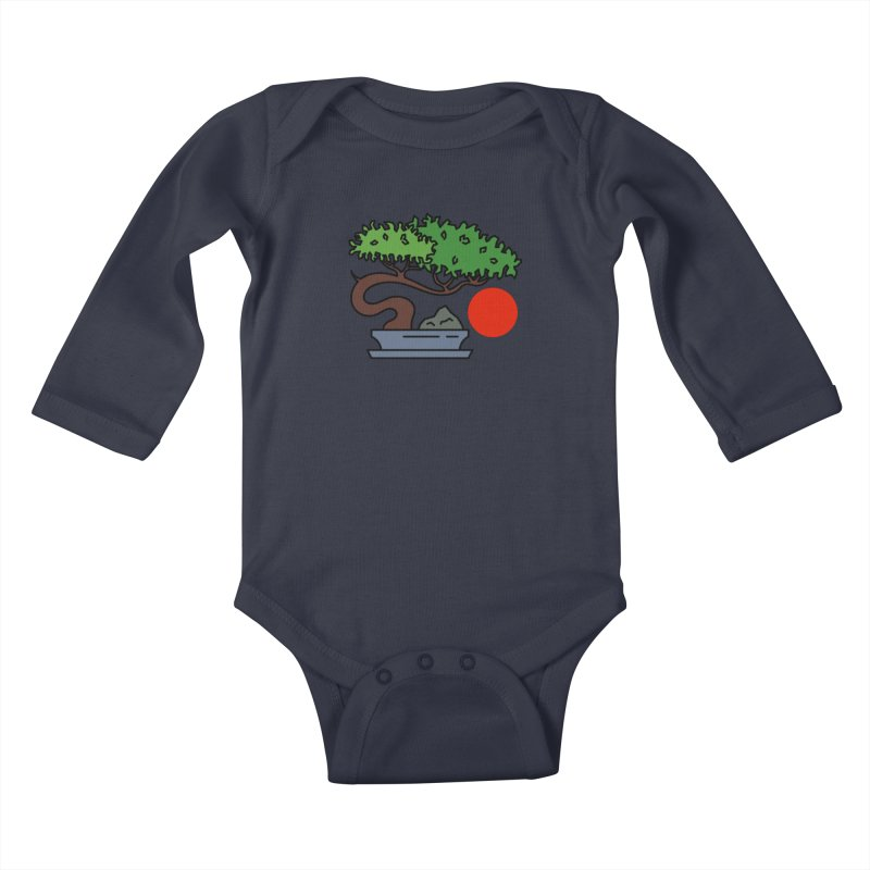 Bonsai Tree - #3 Kids Baby Longsleeve Bodysuit by LadyBaigStudio's Artist Shop