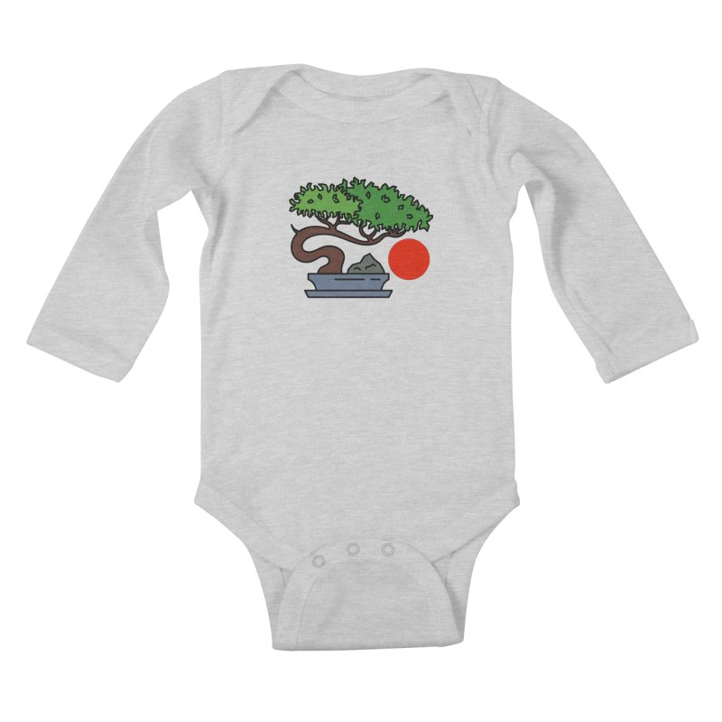 Bonsai Tree - #3 Kids Baby Longsleeve Bodysuit by LadyBaigStudio's Artist Shop