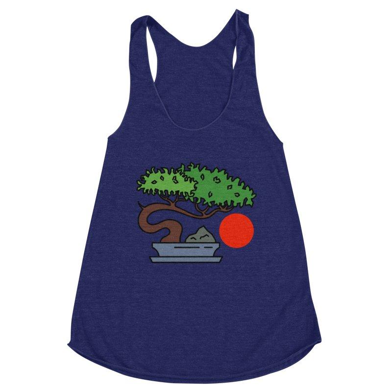 Bonsai Tree - #3 Women's Racerback Triblend Tank by LadyBaigStudio's Artist Shop