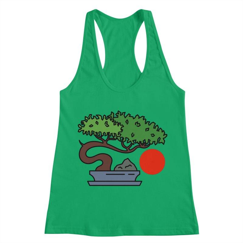 Bonsai Tree - #3 Women's Racerback Tank by LadyBaigStudio's Artist Shop