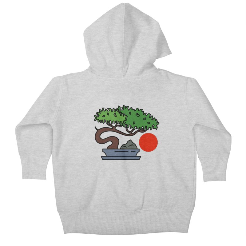Bonsai Tree - #3 Kids Baby Zip-Up Hoody by LadyBaigStudio's Artist Shop