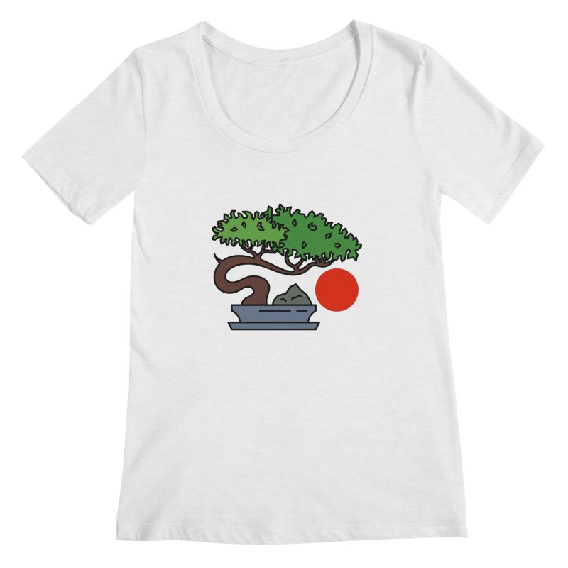 Bonsai Tree - #3 Women's Scoop Neck by LadyBaigStudio's Artist Shop