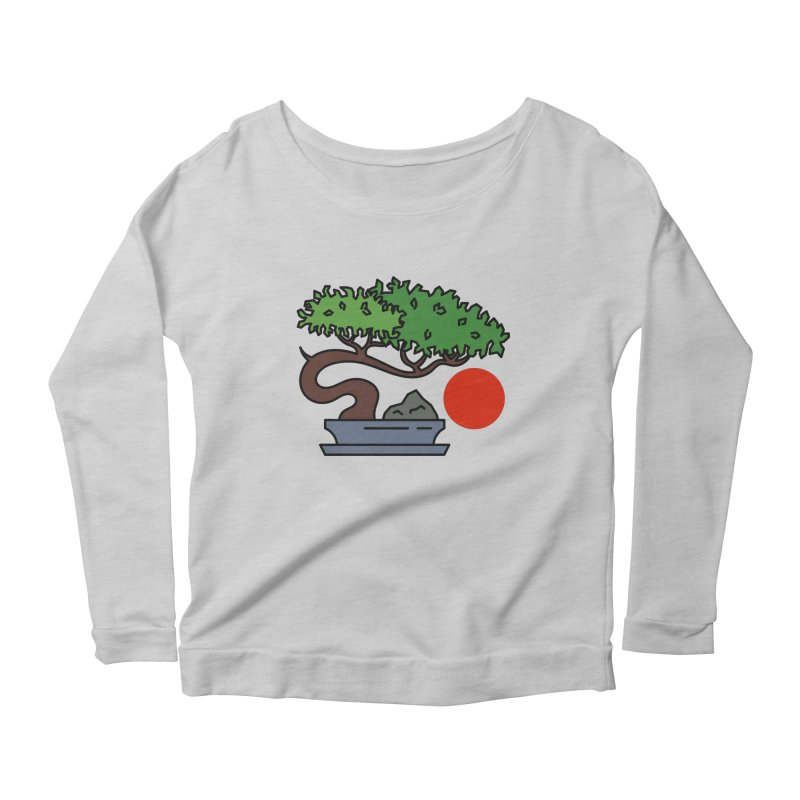 Bonsai Tree - #3 Women's Scoop Neck Longsleeve T-Shirt by LadyBaigStudio's Artist Shop