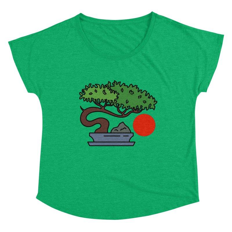 Bonsai Tree - #3 Women's Dolman Scoop Neck by LadyBaigStudio's Artist Shop