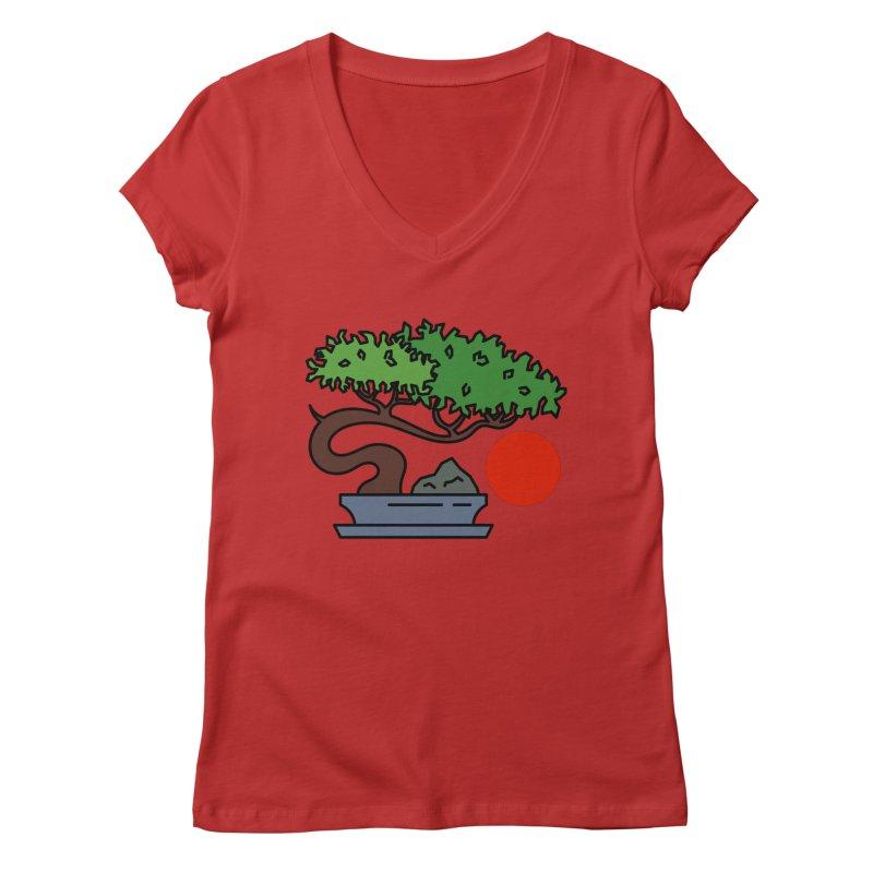 Bonsai Tree - #3 Women's Regular V-Neck by LadyBaigStudio's Artist Shop