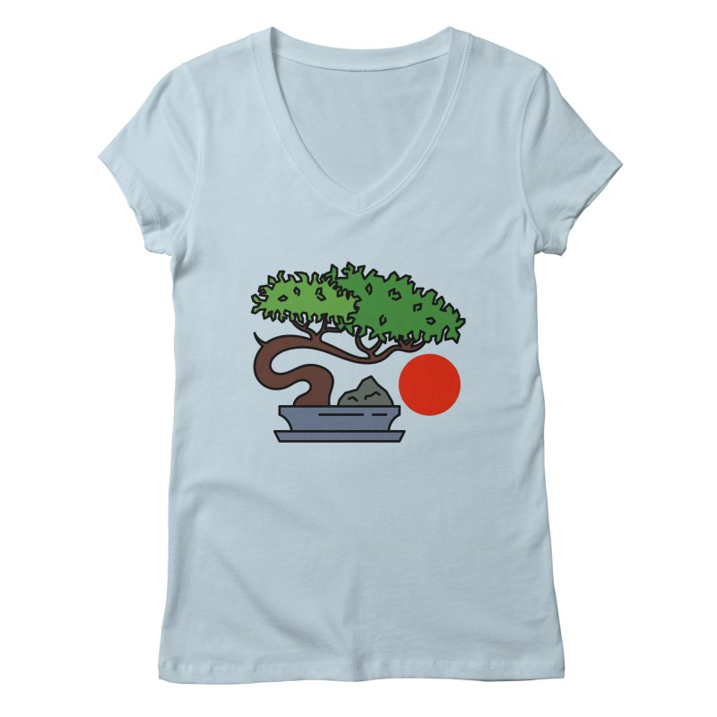 Bonsai Tree - #3 Women's V-Neck by LadyBaigStudio's Artist Shop
