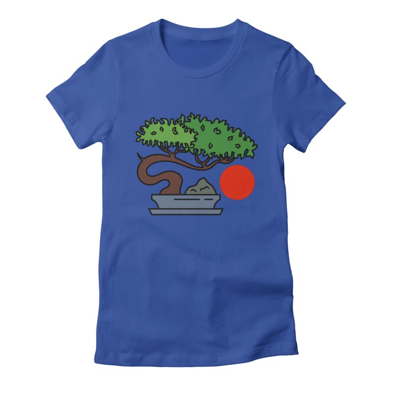 Bonsai Tree - #3 Women's Fitted T-Shirt by LadyBaigStudio's Artist Shop