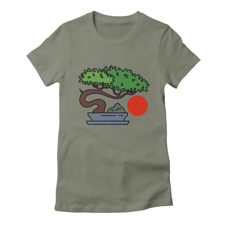 Bonsai Tree - #3 Women's Fitted T-Shirt by LadyBaigStudio's Artist Shop