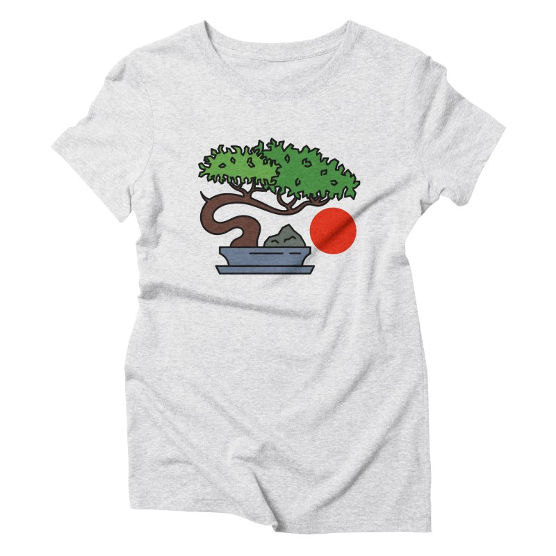 Bonsai Tree - #3 Women's Triblend T-Shirt by LadyBaigStudio's Artist Shop
