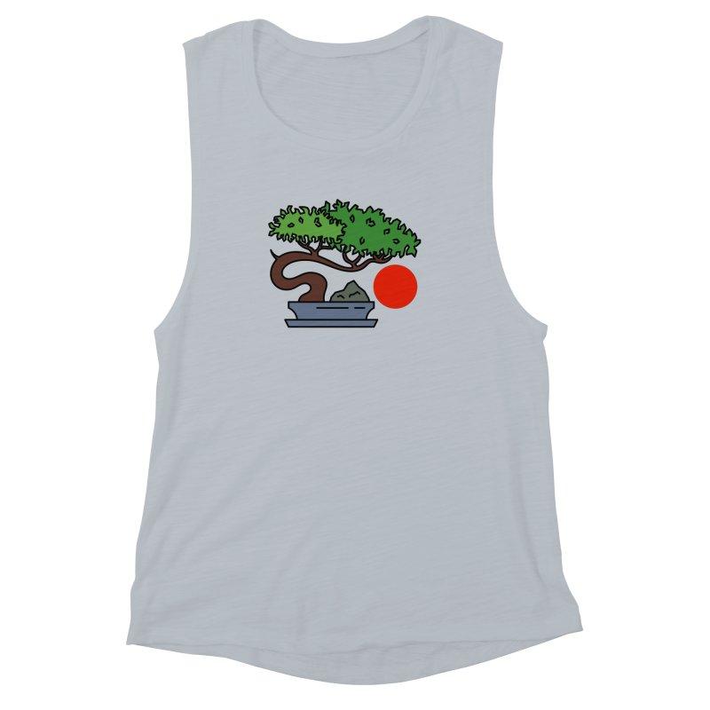 Bonsai Tree - #3 Women's Muscle Tank by LadyBaigStudio's Artist Shop