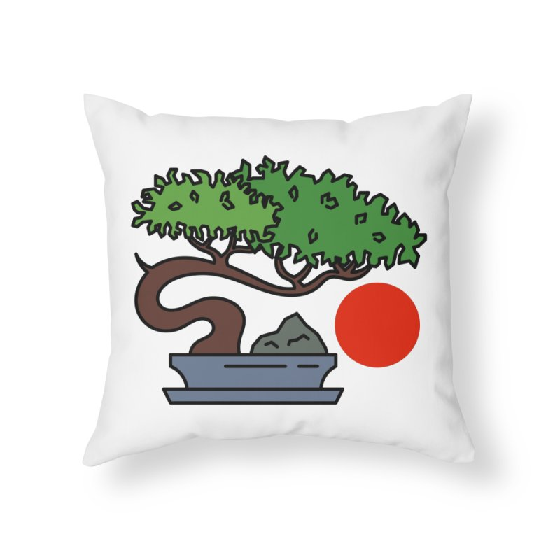 Bonsai Tree - #3 Home Throw Pillow by LadyBaigStudio's Artist Shop