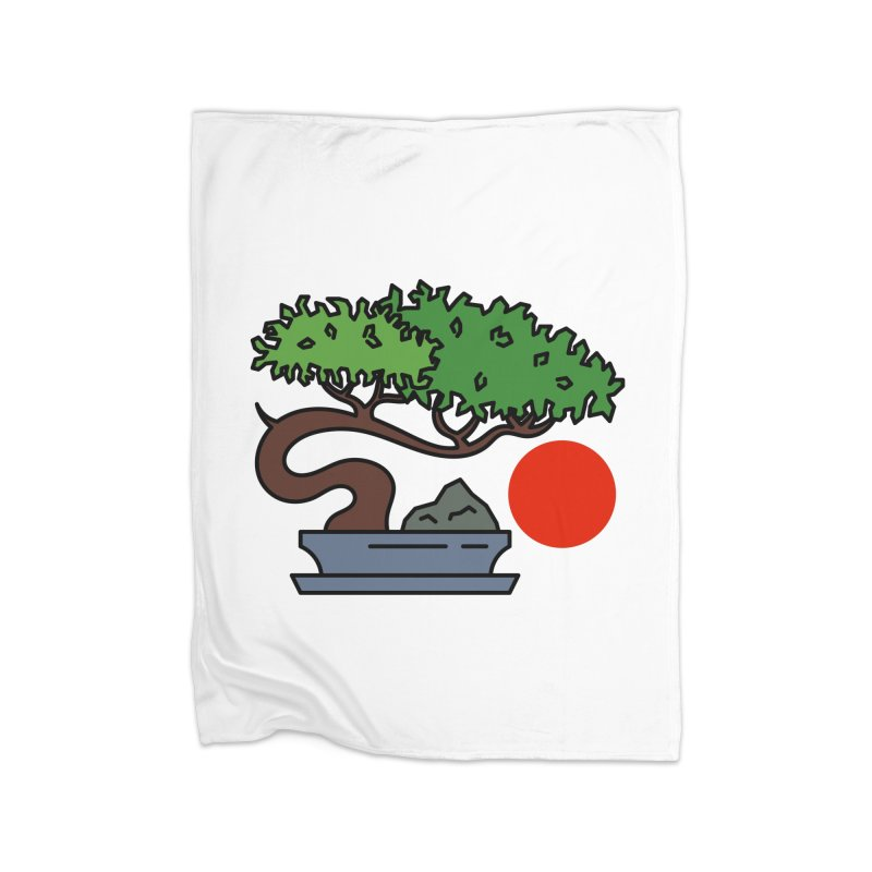 Bonsai Tree - #3 Home Fleece Blanket Blanket by LadyBaigStudio's Artist Shop