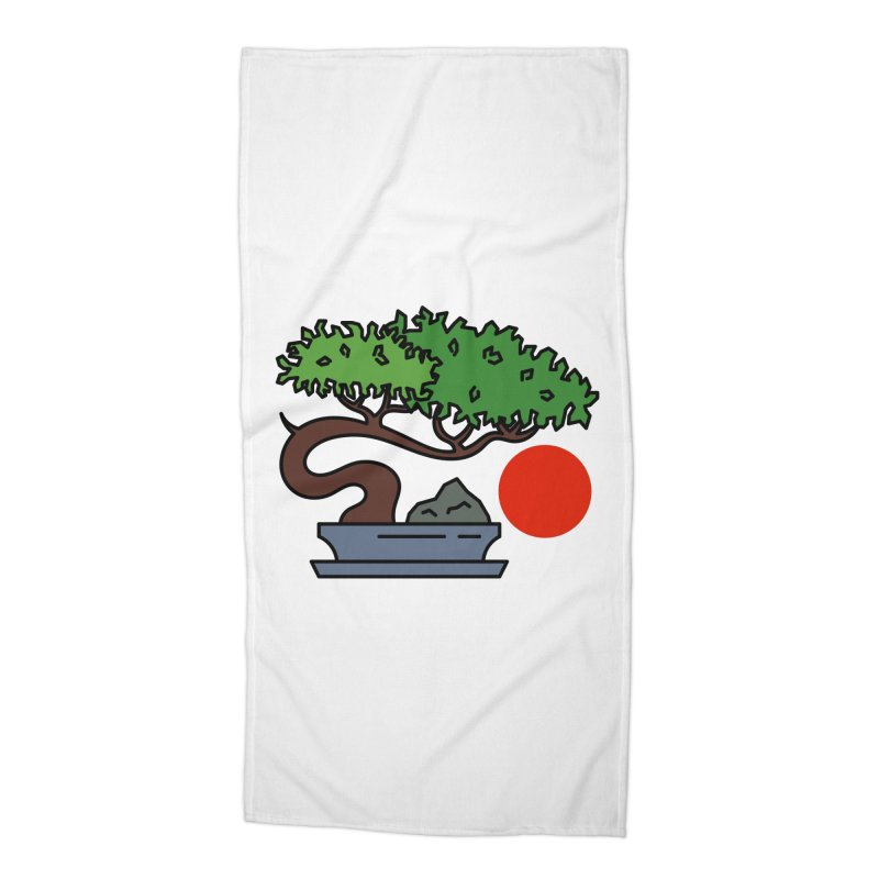 Bonsai Tree - #3 Accessories Beach Towel by LadyBaigStudio's Artist Shop
