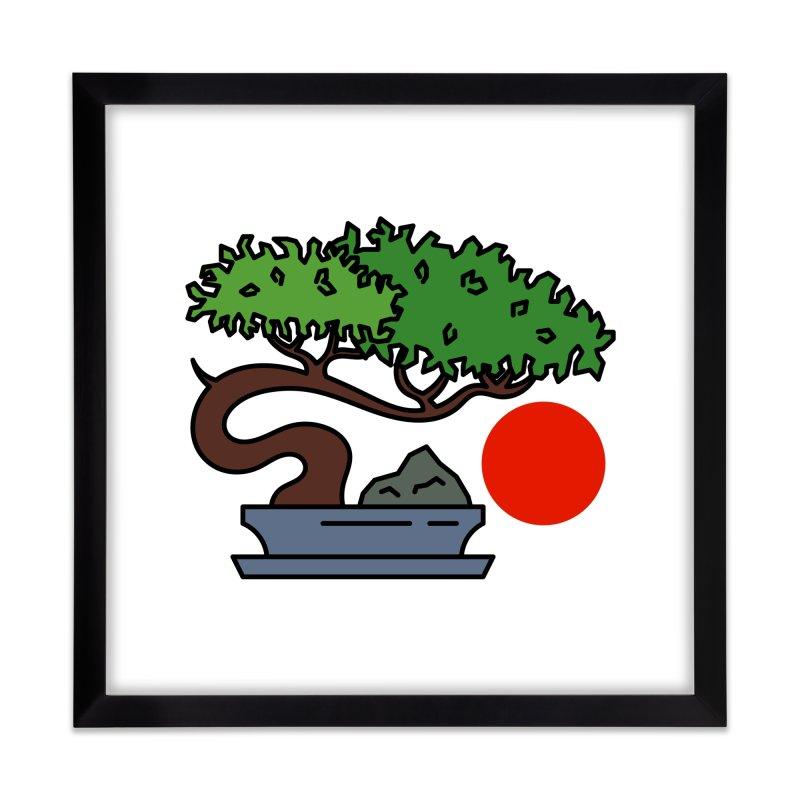 Bonsai Tree - #3 Home Framed Fine Art Print by LadyBaigStudio's Artist Shop