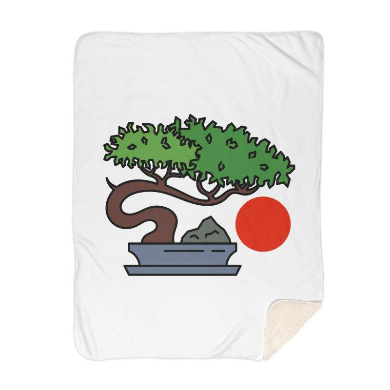 Bonsai Tree - #3 Home Blanket by LadyBaigStudio's Artist Shop