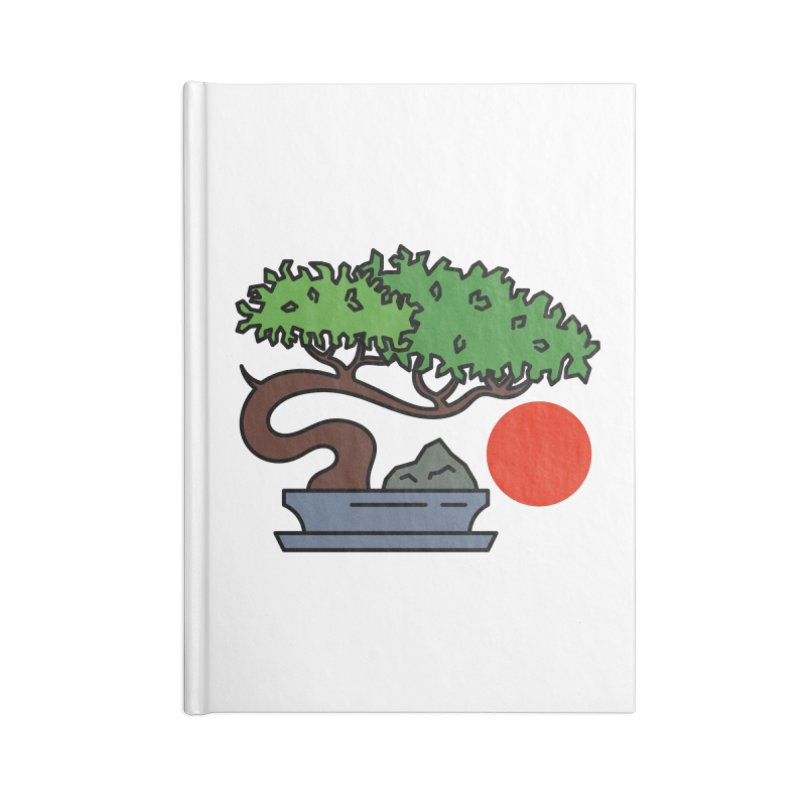 Bonsai Tree - #3 Accessories Lined Journal Notebook by LadyBaigStudio's Artist Shop