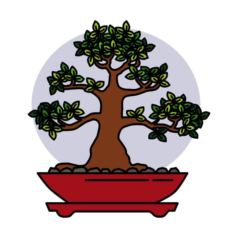 Bonsai Tree - #4 Accessories Sticker by LadyBaigStudio's Artist Shop