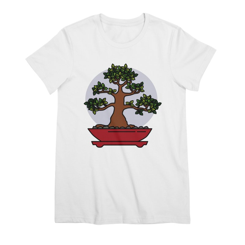 Bonsai Tree - #4 Women's Premium T-Shirt by LadyBaigStudio's Artist Shop