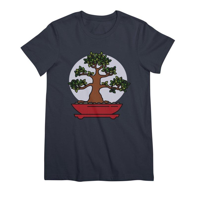 Bonsai Tree - #4 Women's Premium T-Shirt by LadyBaigStudio's Artist Shop