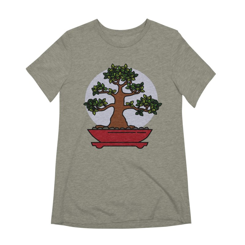 Bonsai Tree - #4 Women's Extra Soft T-Shirt by LadyBaigStudio's Artist Shop
